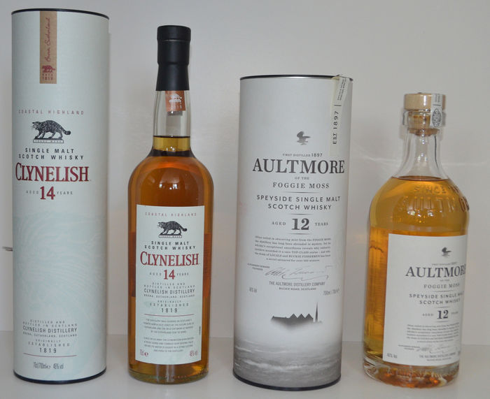 Aultmore, Clynelish - Official bottling - 0,7 l - 2 flaschen