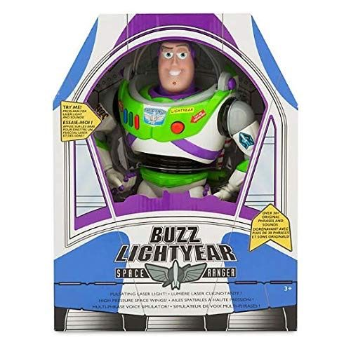 "Disney Advanced Talking Buzz Lightyear Action Figure 12/"" Official Product"