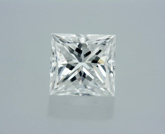 1 pcs Diamant - 0.54 ct - Princesse - D (incolore) - SI1