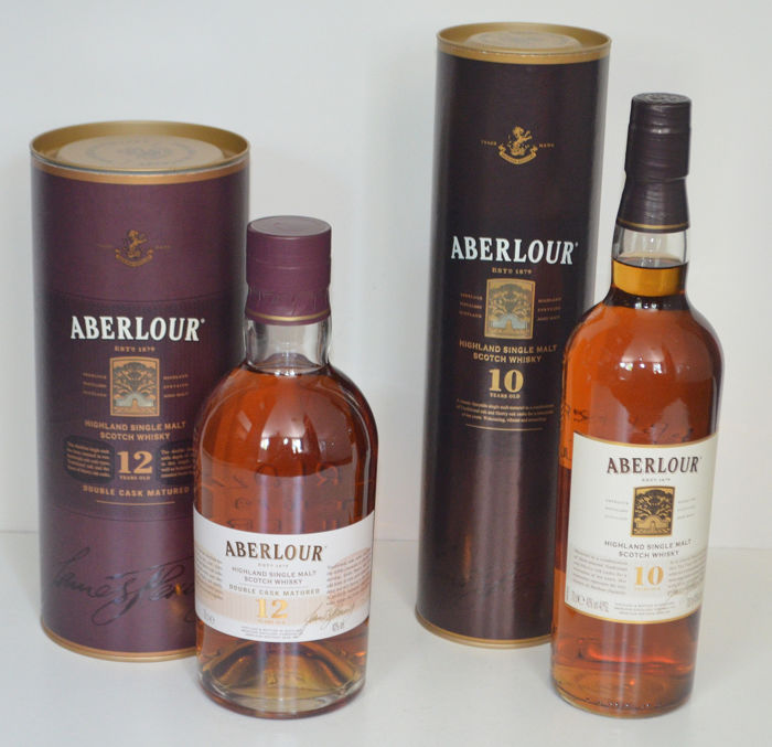 Aberlour 12 years old Double Cask Matured & Aberlour 10 years old - 0,7 l - 2 flaschen