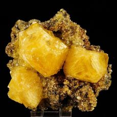 XL Sulfur like - Yellow Alunite crystal cluster with perfect shape - fluorescent - 112×100×64 mm - 262 g