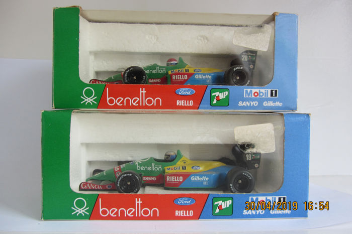 Onyx - 1:43 - 2 x F1 Benetton Ford B188-89 - Original models from 1989