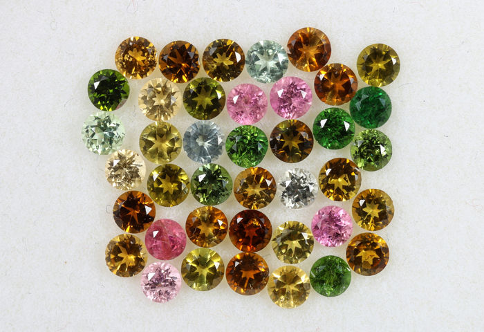 40 pcs  Tourmaline - 4.04 ct