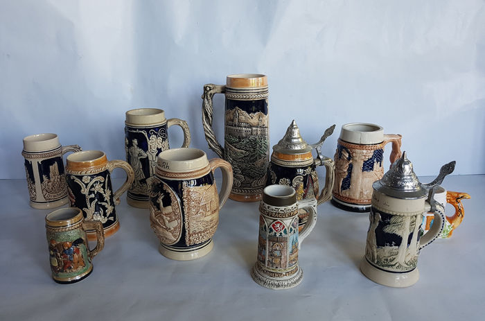 Collection of rare Stoneware Pullen (11) - Pottery and Ceramics