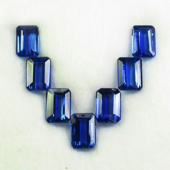 7 pcs Blue Kyanite - 8.32 ct
