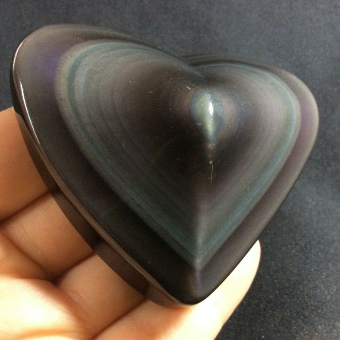 Obsidian Heart - 80×60×30 mm - 115 g