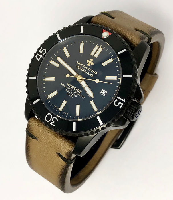 "Meccaniche Veneziane - Automatic Nereide Black PVD LIMITED EDITION ""NO RESERVE PRICE"" - Heren - NEW"