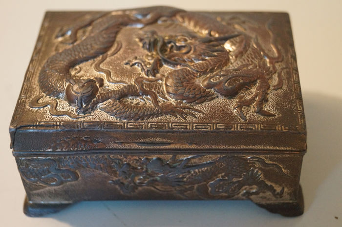 Chinese export brass silvered snuff box - Brass - China - Republic Period (1912-1949)