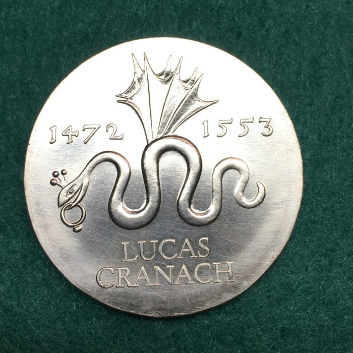 Germany - GDR - 20 Mark 1972  - Lucas Cranach - Silver