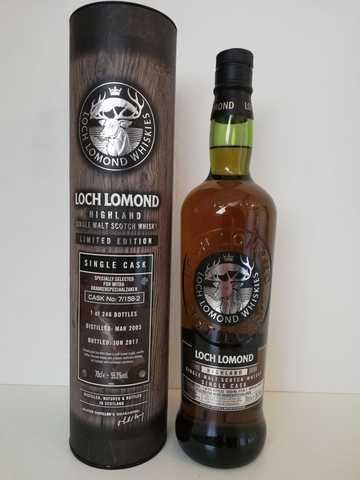 Loch Lomond 2003 14 years old Single Cask #7/158-2 - Original bottling - b. 2017 - 700ml - 246 garrafas