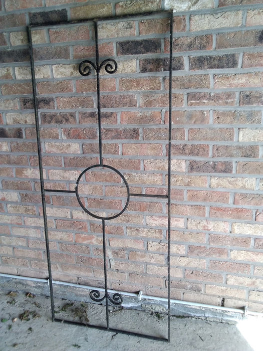 Decoration, door protection, wrought iron decoration - Iron (cast/wrought)