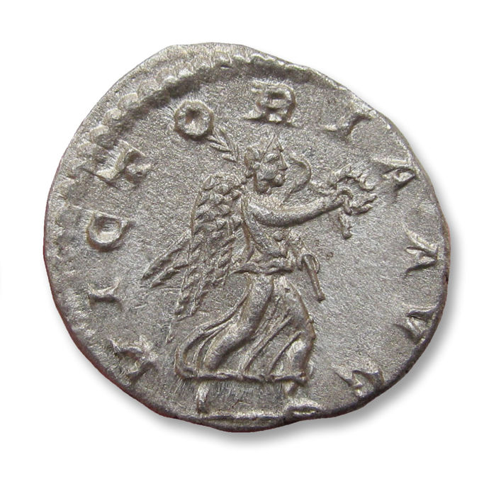 Empire romain - AR denarius, Severus Alexander, Antioch mint 222 A.D. - VICTORIA AVG, sharply struck coin - Argent