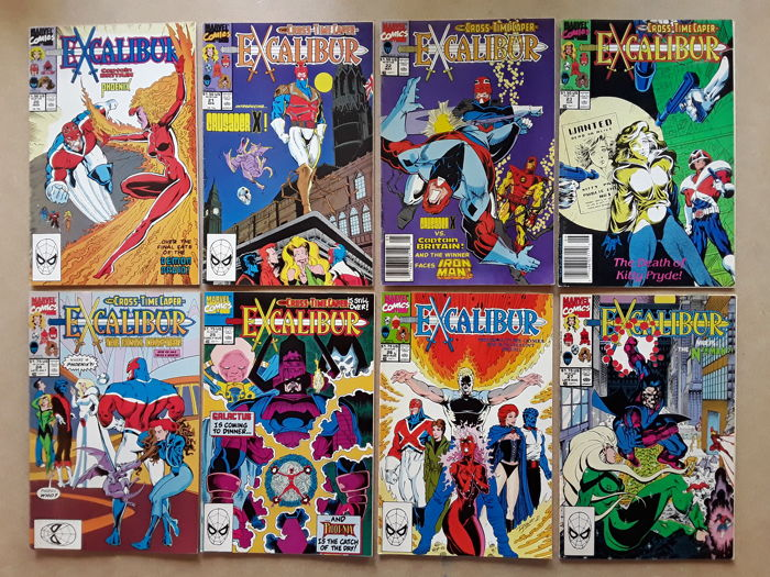 Excalibur - Huge lot - X 110- Captain Britain, Nightcrawler, Galactus, Kitty Pryde, Dr. Doom, X-Men, Spider-Man - Softcover - First edition - (1990/1998)