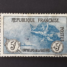 Frankrijk 1917/1918 - For the benefit of War Orphans, 1st series, 5f + 5f - Yvert 155