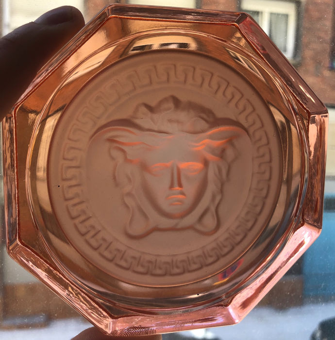 Exclusive Pink Glass Medusa  Rosenthal Versace Ashtray - Glass