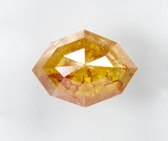 Diamante - 1.73 ct - Natural Fantasía INTENSO Amarillo Naranja - I3  *NO RESERVE*