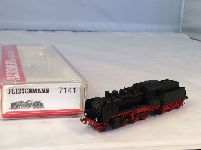 Fleischmann N - 7141 - Steam locomotive with tender - BR 24 of the Deutsche Reichsbahn - (4636) - DR (DDR)
