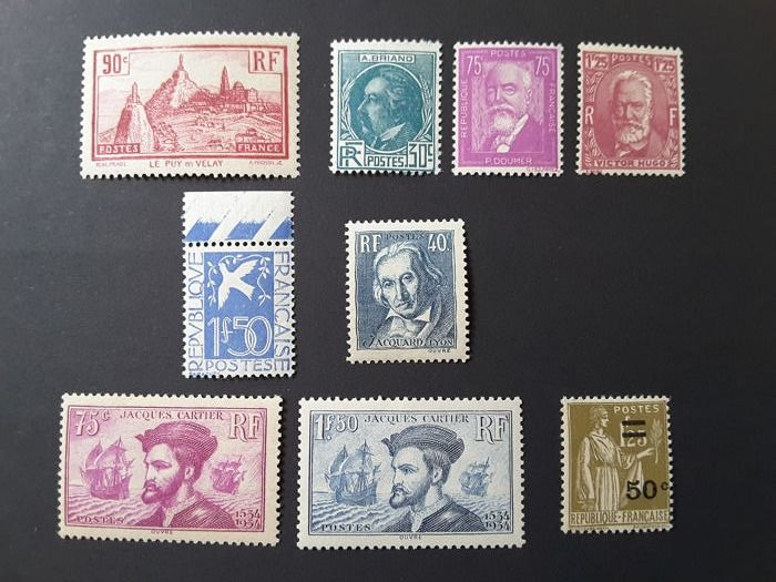 Frankrijk 1933/1934 - Selection of good values, semi-modern - Yvert 290 à 298