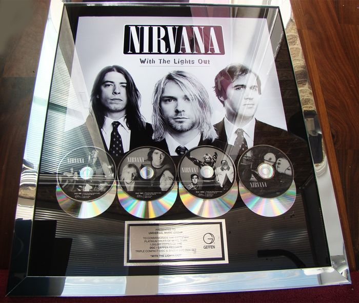 "Nirvana - ""With the Lights Out"" 1 million sales award, rare - Official award - 2004/2005"