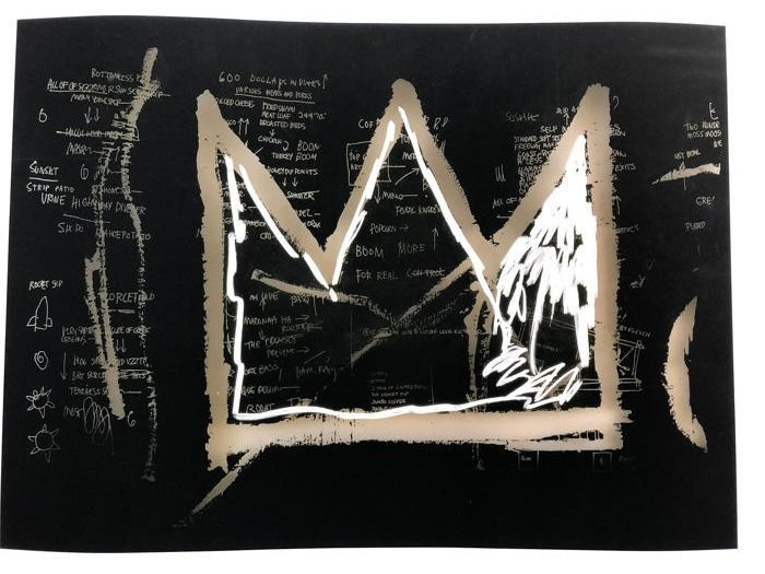 Jean-Michel Basquiat  - 600 Dollars in Dimes 1982
