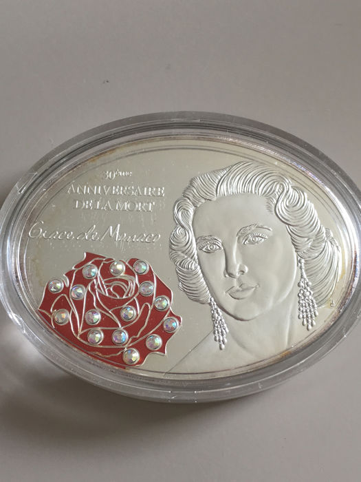 "Fiji - 10 Dollar 2012 - ""30. Todestag Grace Kelly"" - 1 Oz - Zilver"