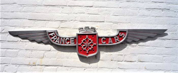 """Decoratief object - Coach Badge """"France Cars"""" - 1950-1960"""