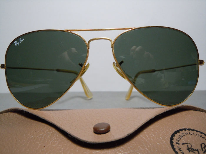 Ray-Ban - Aviator Cal. 58  By Bausch & Lomb  U.S.A. Vintage jaren 80