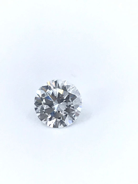 1 pcs Diamante - 0.90 ct - Redondo - E - VS2