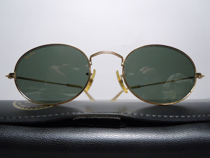 RAY BAN  Classic Colletion 1 Gold Arista By B&L  - 18K Gold Plated Vintage 90's Zonnebril
