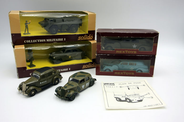 Solido - Rex Toys - 6x Military vehicles - 1:43 - 1980-1989 - France