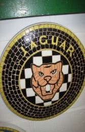 Decoratief object - Jaguar - Rare Jaguar Mascot Mosaic Tile Plaque Wall Art - 2018