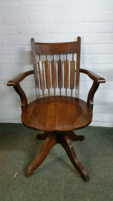 Office chair - Iron (cast/wrought), Oak - Early 20th century