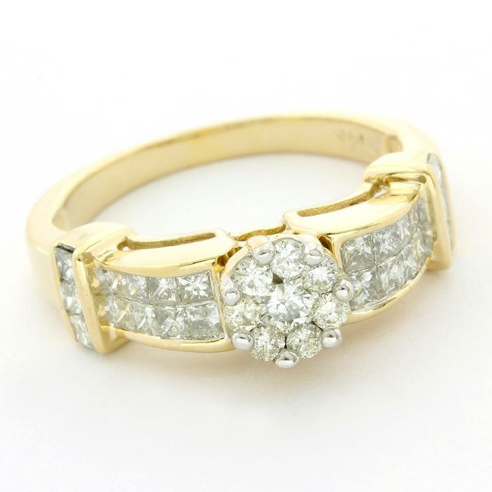 14 quilates Oro amarillo - Anillo - 0.75 ct Diamante