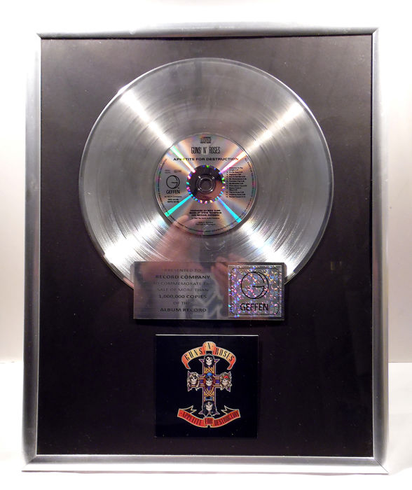 Guns 'n Roses - Appetite for Destruction - Offizieller hauseigener Award - 2008