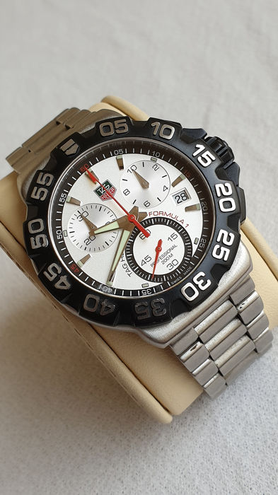 Tag Heuer Formula 1 White Dial Quartz Chronograph No Reserve Price Reference Cah1111 Men 2018 Present Catawiki