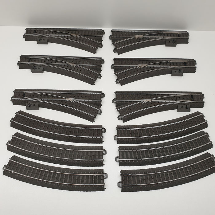 Märklin H0 - 24611/24612/24224 - Tracks - C-rail switches 3x left and 3x right including counter bend