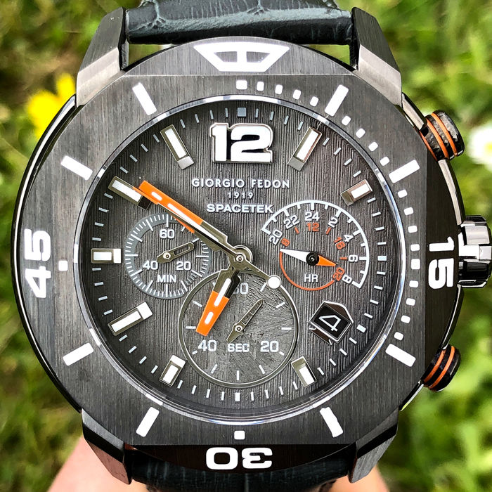 "Giorgio Fedon 1919 - Chronograph Space Explorer Meteorite Dial Limited Edition 250 - GFBN005 ""NO RESERVE PRICE"" - Men - Brand New"