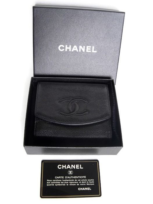 Chanel -  Bi-fold wallet (CAVIAR!)  -*No Reserve Price!* Wallet