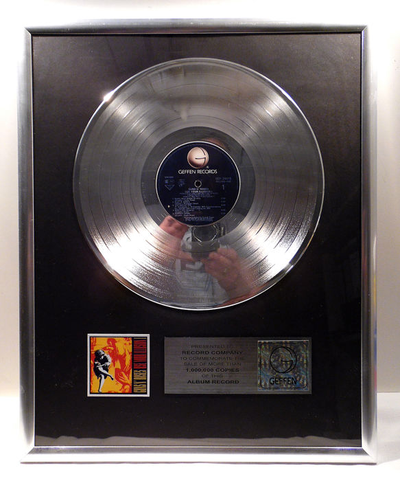 Guns 'n Roses - Use Your Illusion I - Official In-House award - 1991
