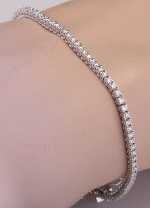 14 karaat Witgoud - Armband - 2.05 ct Diamant