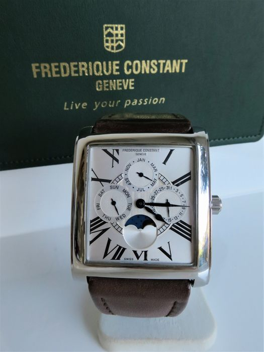 "Frédérique Constant - Persuasion Carree Moonphase ""NO RESERVE PRICE"" - F265X3C24/6 - Heren - 2000-2010"