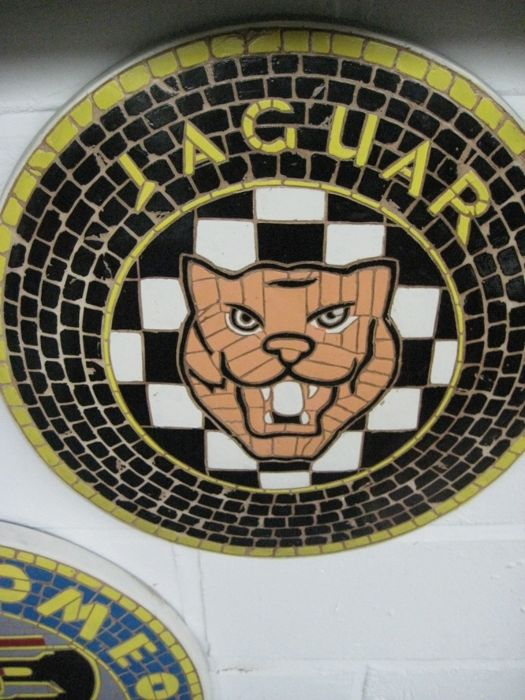Decorative object - Jaguar - Rare Jaguar Mascot Mosaic Tile Plaque Wall Art - 2018