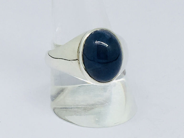 925 Silver - Ring - 11.20 ct Sapphire