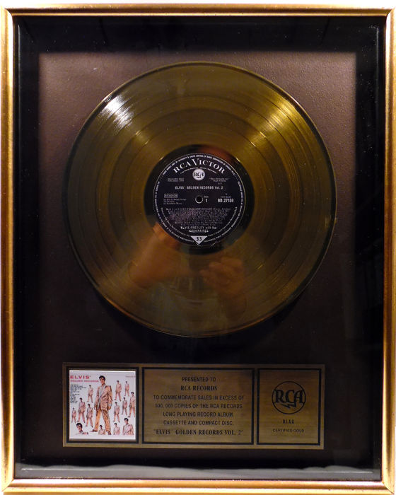 Elvis Presley - Elvis' Golden Records Vol.2 - Official RIAA award - 1992