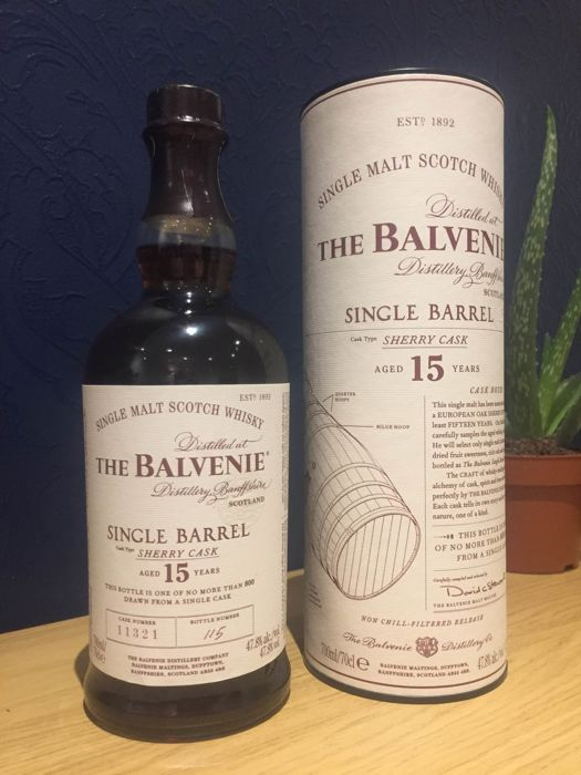 Balvenie 15 years old Single Barrel - 100% Sherry cask - 70cl