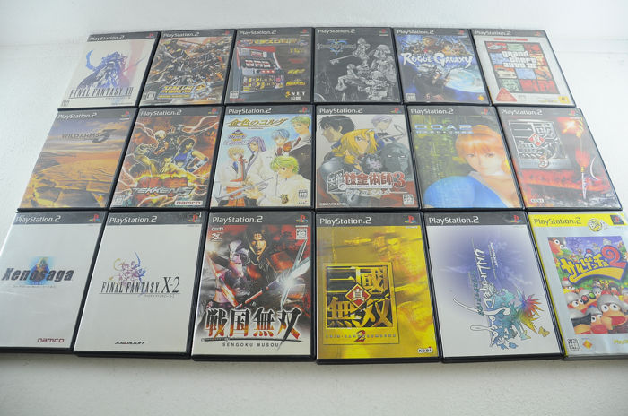 Sony Playstation 2 - 18 Japanese Sony PS2 Games - In original box