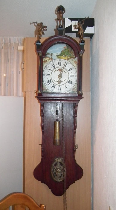 Wall clock - Wood, Oak - Early 19th century