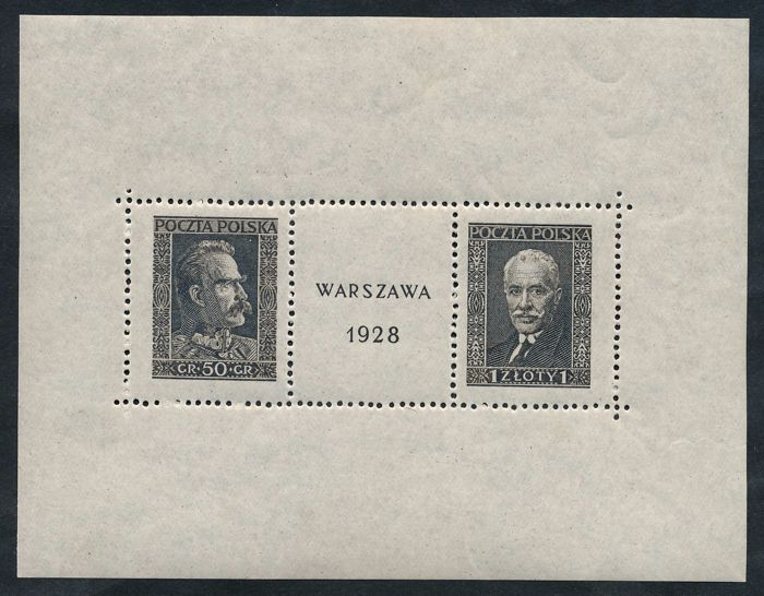 Polen 1928 - Stamp exhibition Warsaw, block issue - Michel Block Nr. 1