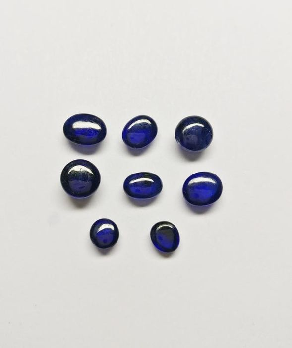 8 pcs Violetish Blue Ioliet - 6.04 ct