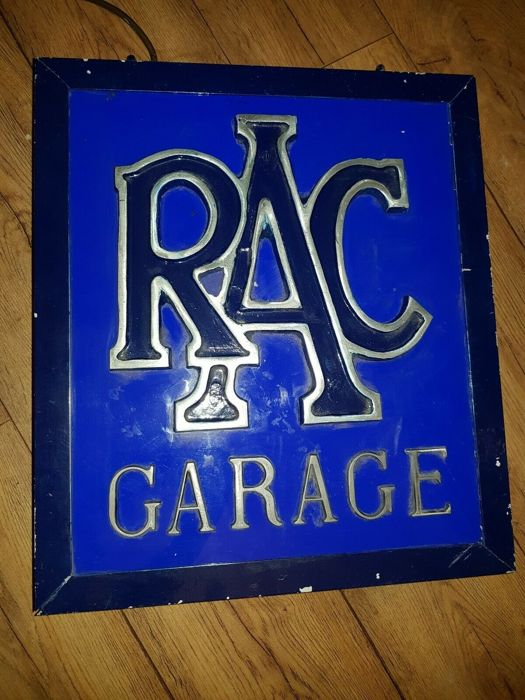 Bewegwijzering - RAC Royal Automobile Association - Genuine RAC Illuminated Garage Sign for Workshop Dealer Display - 1930-1950